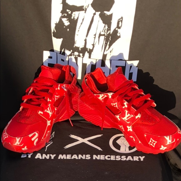 cc6748179bf5b6 Louis Vuitton Other - Supreme x Louis Vuitton Nike Triple Red Huaraches